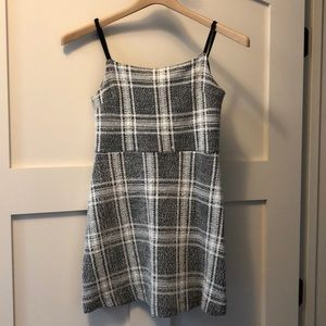 Strappy plaid dress